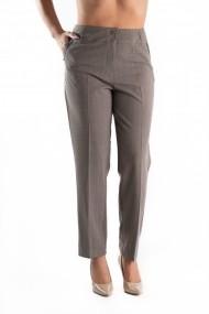 Pantaloni Eleganti Crem in Carouri Masura Mare din Stofa