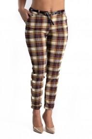Pantaloni in carouri galbene Natasha