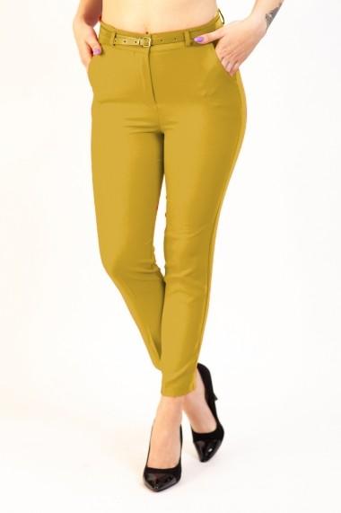 Pantaloni Dama Galben Office Athena