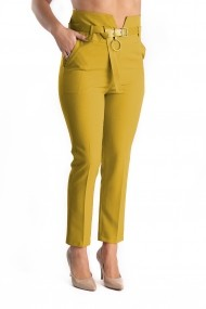 Pantaloni Dama Galben Mustar Eleganti Keily