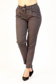 Pantaloni Dama Gri cu Cordon