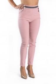 Pantaloni Dama Stofa Elastica Roz Samira