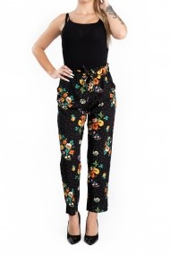 Pantaloni Dama Masura Mare cu Imprimeu Floral Viviane