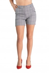 Pantaloni Dama Gri In Carouri Scurti Eleganti Novah