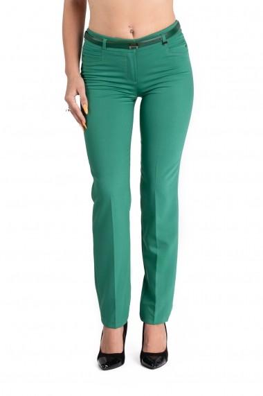 Pantaloni Dama Eleganti Verzi Marime Mare Claire
