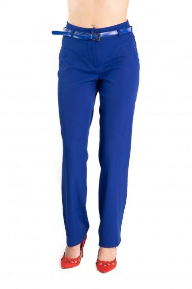 Pantaloni Eleganti Albastri Masura Mare