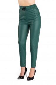 Pantaloni Verde Din Piele Ecologica Masura Mare Chloe