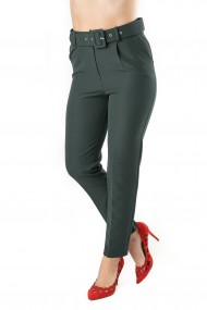 Pantaloni Dama Eleganti Kaki Penelope