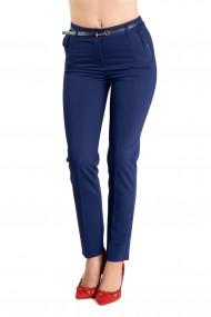 Pantaloni Dama Office Albastri Kayla -Premium