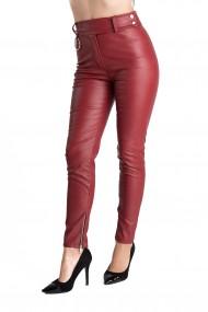Pantaloni Piele Ecologica Grena Eleanor
