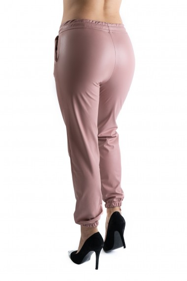 Pantaloni Dama Piele Ecologica Roz Vatuiti Rihanna