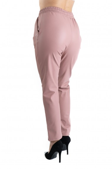 Pantaloni Piele Ecologica Roz Vatuiti Gen Boyfriend Rihanna