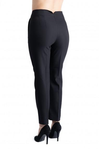 Pantaloni Annalise Negri Cu Pliuri In Talie Premium