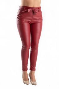 Pantaloni Piele Ecologica Rosii Victoria