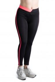Colanti Dama Fitness Sport Pentru Sala Negri Cu Roz