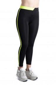 Colanti Dama Fitness Sport Pentru Sala Negri Cu Verde