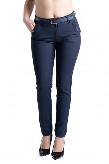 Pantaloni Dama Bleumarin Eleganti Sydney Marime Mare