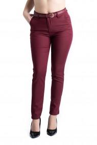 Pantaloni Dama Grena Eleganti Sydney Marime Mare