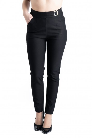 Pantaloni Dama Masura Mare Negri Natalia