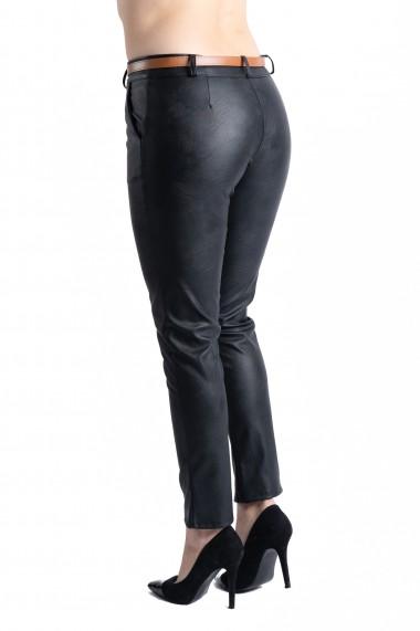 Pantaloni Dama Imitatie Piele Negri Kennedy