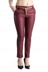 Pantaloni Dama Imitatie Piele Grena Kennedy