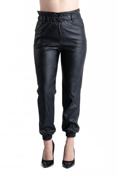 Pantaloni Dama Imitatie Piele Negri Harmony