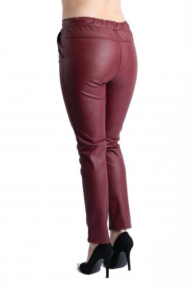 Pantaloni Piele Ecologica Grena Tessa Marime Mare