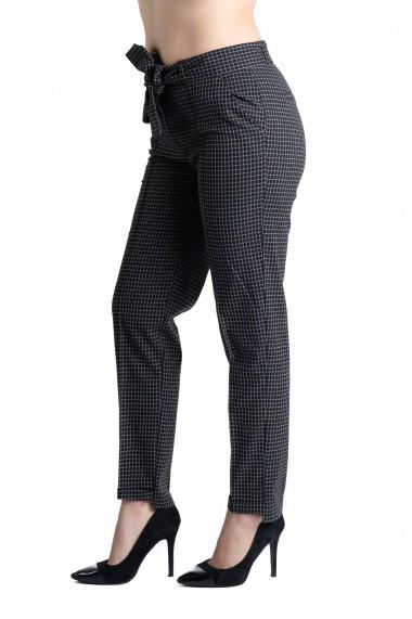 Pantaloni Isabella Eleganti Negri in Carouri