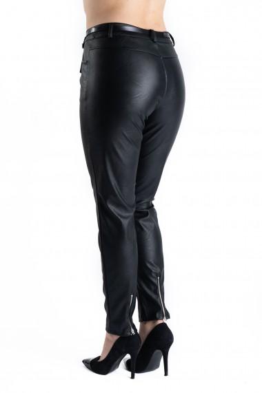 Pantaloni Dama Imitatie Piele Negru Mila