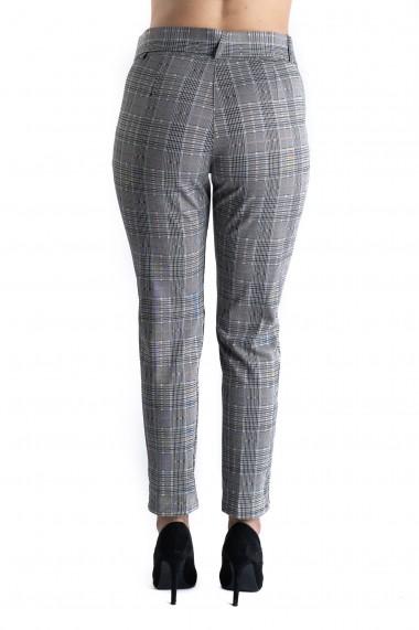 Pantaloni Dama Eleganti Gri In Carouri