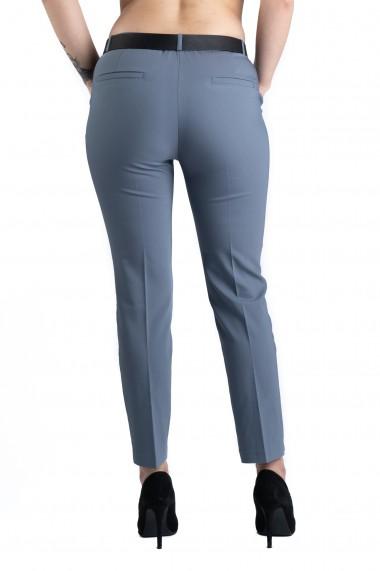 Pantaloni Ava Eleganti Marime Mare Gri Premium