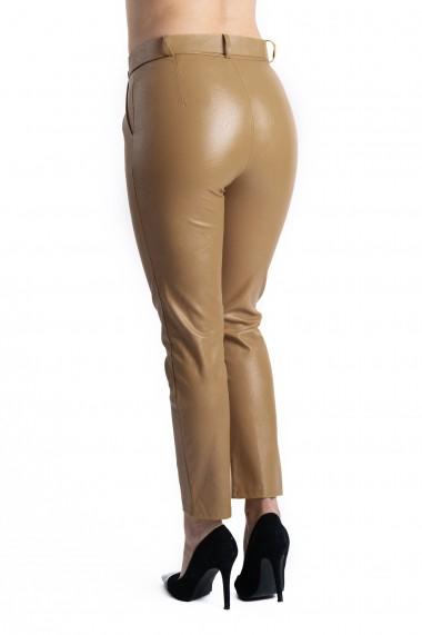 Pantaloni Dama Imitatie Piele Maro Kylie