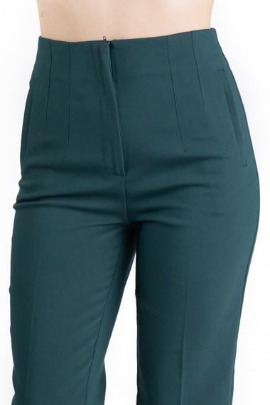 Pantaloni Annalise Verzi Cu Pliuri In Talie Premium