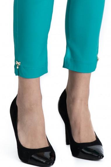 Pantaloni Alyssa Albastru Turcoaz Eleganti