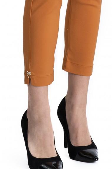 Pantaloni Alyssa Maro Caramel Eleganti