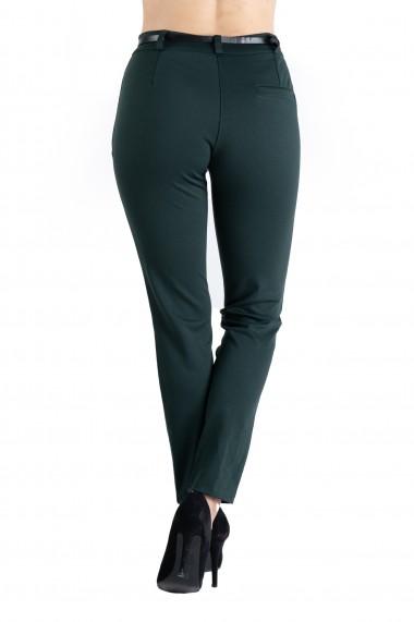 Pantaloni Dama Eleganti Verde Inchis Emma