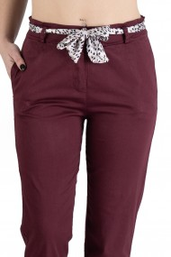 Pantaloni Greta Dama Eleganti Grena