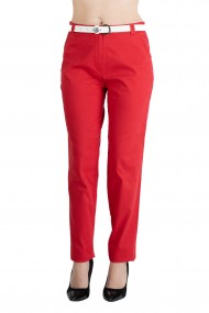 Pantaloni Gabriella Eleganti Marime Mare Rosu Premium