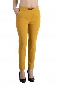 Pantaloni Emery Marime Mare Dama Mustar