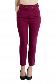 Pantaloni Dama Eleganti Roz Ciclam Carol Premium