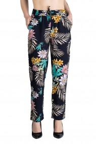 Pantaloni Dama Cu Motive Florale Masura Mare Ellie