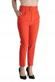 Pantaloni Dama Eleganti Portocaliu Carol Premium