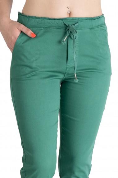 Pantaloni Dama Cu Siret In Talie Verzi