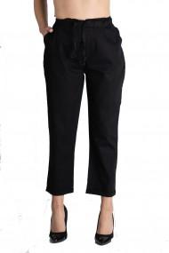 Pantaloni Dama Din Bumbac Fin De Vara Marime Mare Negru