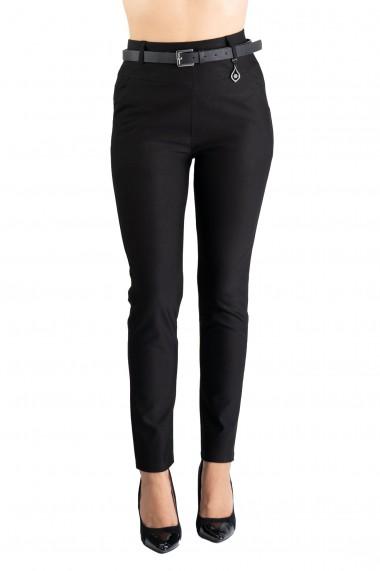 Pantaloni Dama Masura Mare Negri Anabela