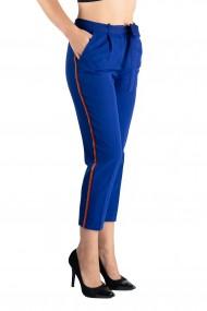 Pantaloni Dama Eleganti Albastri cu Vipusca Skylar
