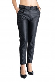 Pantaloni Dama Imitatie Piele Negri Kylie