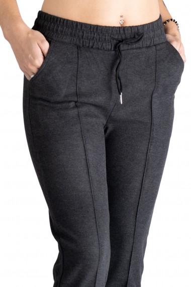 Pantaloni Dama Masura Mare Gri Inchis Eva