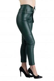 Pantaloni Imitatie Piele Verzi Queen Vatuiti