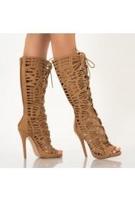 Sandale dama Fergie camel